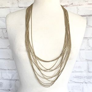 Multi rows of gold chain link